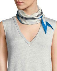 Rag & Bone - Narrow Striped Silk Scarf - Lyst