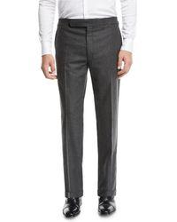Ralph Lauren - Men's Heathered Flannel Trouser Pants - Lyst