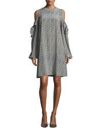 Robert Rodriguez - Cold-shoulder Silk Mini Dress - Lyst