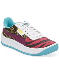PUMA - California Animal Leather Sneakers - Lyst 76f93f989