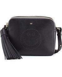 Anya Hindmarch - Leather Crossbody Smiley Bag - Lyst