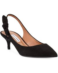Tabitha Simmons - Rise Suede Slingback Bow Pumps - Lyst
