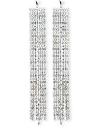 Fallon - Marquis Crystal Waterfall Earrings - Lyst