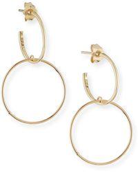 Lana Jewelry - Fifteen 14k Double-hoop Earrings - Lyst