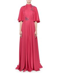 Andrew Gn - Flutter-sleeve Butterfly-trim Gown - Lyst