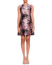 Dolce & Gabbana - Sleeveless Floral-jacquard A-line Cocktail Dress - Lyst