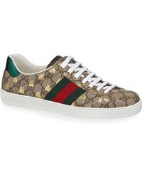 12a279bbb50 Gucci - Men s Ace GG Supreme Bee Sneakers - Lyst
