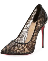 a137f547c5e2 Lyst - Christian Louboutin Pigalle Follies Leather Pumps in Metallic
