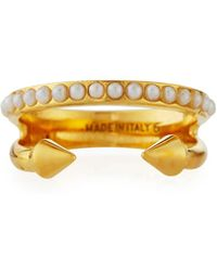Vita Fede - Ultra Mini Pearl Band Ring - Lyst