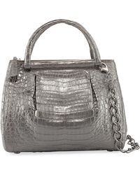 Nancy Gonzalez - Medium Pleated Crocodile Tote Bag - Lyst