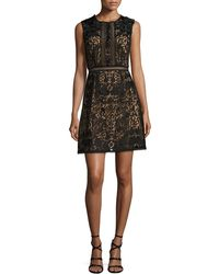 Notte by Marchesa | Sleeveless Lace A-line Dress | Lyst