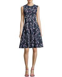 Carolina Herrera - Sleeveless Dress - Lyst