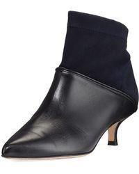 Tibi - Jean Velvet & Leather Ankle Boot - Lyst