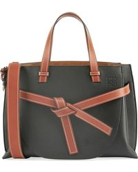 Lyst - Loewe Gate Small Leather Top-handle Tote Bag in Brown 277b5afb6f6a6