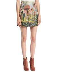 Adam Lippes - Jungle-print Mini Skirt - Lyst