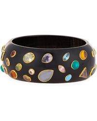Ashley Pittman | Urujuani Studded Dark Horn Bangle | Lyst
