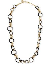Ashley Pittman - Shauri Dark Horn Link Necklace - Lyst