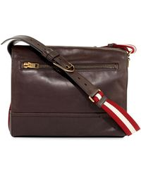 Bally - Tamrac Men's Leather Messenger Bag - Lyst