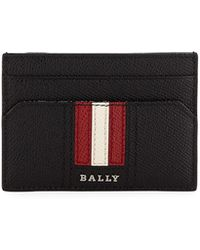 Bally - Men's Leather Card Case With Money Clip - Lyst