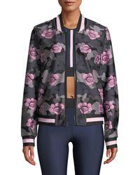 Ultracor - Collegiate Floral Zip-front Bomber Jacket - Lyst