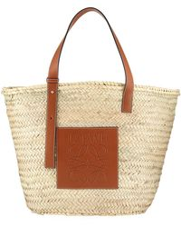 Lyst - Loewe Small Woven Leather Tote Bag e5129319fadae