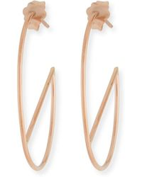 Lana Jewelry - 14k Eclipse Wire Hoop Earrings - Lyst