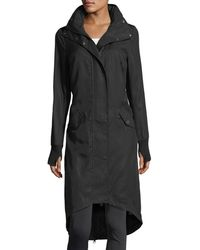 BLANC NOIR - Long Hooded Anorak Jacket - Lyst