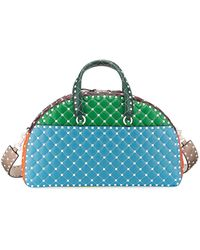 Valentino - Rockstud Quilted Zip-around Bowling Bag - Lyst