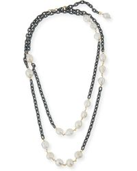 Grazia And Marica Vozza | Chain Necklace With Pearls | Lyst