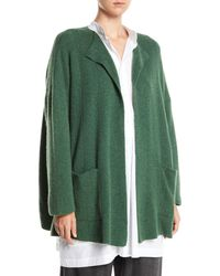 Eskandar - Open-front Patch-pockets Cashmere Cardigan Jacket - Lyst