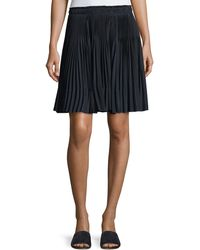 a263bc8623 Vince - Multi-pleated Short Skirt - Lyst