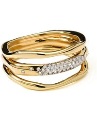 Ippolita - 18k Gold Stardust Squiggle Ring With Diamonds - Lyst