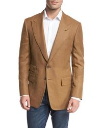 Tom Ford - Shelton Linen Peak-lapel Sport Coat - Lyst