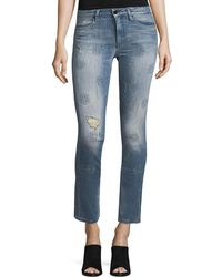 Brockenbow - Lily Slim Straight-leg Cropped Jeans - Lyst