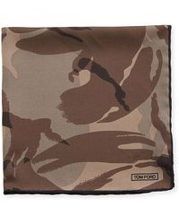 Tom Ford - Camouflage Silk Pocket Square - Lyst