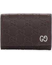 Gucci - Signature Leather Card Case - Lyst