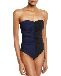 c65b30d0b98 Karla Colletto Zola Ruffle Silent Underwire One-piece Swimsuit in Black -  Save 33% - Lyst