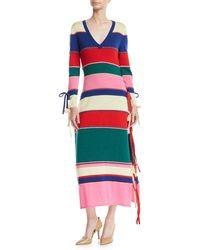 Rosie Assoulin - Ottomon-stripe Knit Maxi Dress - Lyst