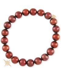 Sydney Evan - Potato Pearl Bead Bracelet W/ Starburst Charm - Lyst