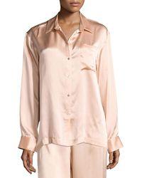 Beautiful Bottoms - Silk-satin Pajama Top - Lyst