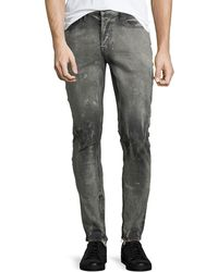 a3e19f408fc Hudson Jeans - Men's Vaughn Skinny Ankle-zip Deconstructed Jeans - Lyst