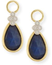 Jude Frances - Provence Labradorite & Black Onyx Earring Charms With Diamonds - Lyst