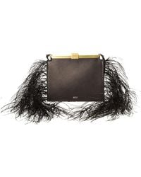N°21 - Leather And Feather Frame Pouch Bag - Lyst