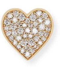 Sydney Evan - Anniversary Diamond Single Heart Stud Earring - Lyst
