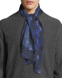 Etro - Men's Paisley Cashmere/silk Scarf - Lyst