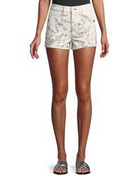 Rag & Bone - Ellie Floral-print High-rise Twill Shorts W/ Western Back Yoke - Lyst