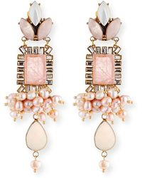 Sequin - Mixed Crystal Statement Earrings - Lyst