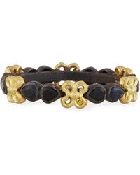 Armenta - Old World Midnight Stacking Ring With Pear-cut Black Sapphires - Lyst