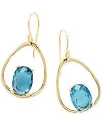 Ippolita - 18k Rock Candy Wire Earrings In London Blue Topaz - Lyst