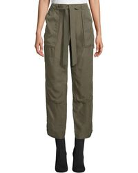 Rag & Bone - Henri Crop Silk Pants - Lyst